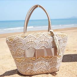 Discount Straw Beach Bag Lace | 2017 Straw Beach Bag Lace on Sale ...