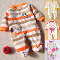 baby product dog - Orange dog Fleece Baby Pajamas Rompers Body suits Foot Cover Newborn boys girls one pieces Clothes baby product TOP QUALITY