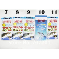 Wholesale pack hook each one High Quality Fishing Lures Baits Sabiki Rigs Hooks High Carbon Steel