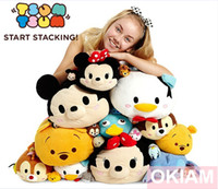 Wholesale Plush TSUM TSUMS Toy Medium Large Size Toy Mickey Minnie Winnie Kawaii Dolls