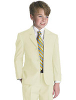 attire clothes - Kid Clothing New Style Complete Designer Boy Wedding Suit Boys Attire Jacket Pants Tie Vest C812W