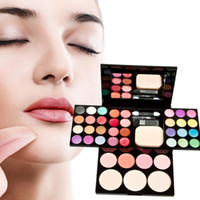 Wholesale Makeup Palette Set Eyeshadow Lip Gloss Foundation Powder Blusher Puff Tool V3NF