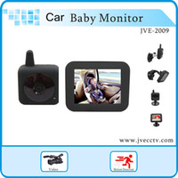 Rechargeable Battery Color 100 m Wholesale-BabyCam Car Wireless In Car Digital Video Baby Monitor with 3.5 Inch Screen,Wireless Baby Monitor&camera for car while Driving
