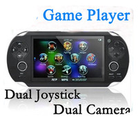 Cheap Wholesale-4GB Handheld Game mp5 Player mp3 Player mp4 Player With Dual Joystick Camera FM TV-Out Portable shock Game Console