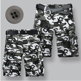 Wholesale- Mens Camouflage Shorts Summer Sports Men shorts Camo Short Cargo shorts for men