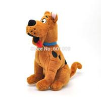 Свободный материал собаки Отзывы-Оптовая Бесплатная доставка Симпатичные собаки Скуби Ду куклы мягкая игрушка Новый