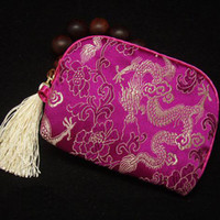 Wholesale Digital Camera Pouch Camera Bag Cheap China Silk Brocade Tassel Color Fitted Camera Case Free