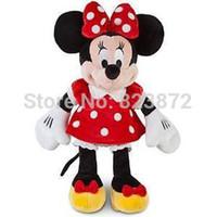 minnie mouse plush - Original Minnie Mouse Toys Red Minnie Plush Toys cm Stuffed Animals Pelucia Minnie Mickey Toys for Children Free