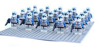 Wholesale Star Wars Bule Clone Trooper Solider minifigures D building blocks sets kids toys