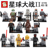 Wholesale SHEN YUAN SY198 Building Blocks Super Heroes Avengers Star Wars Action Figure Minifigures Clone Trooper Solider oys