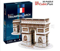 Wholesale Cubic Fun D Puzzle games cube FRANCE The Arch of Triumph