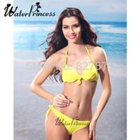 Gros-2015 Solide New Hot Fashion Bikini Livraison gratuite de haute qualité Marque Maillots Dans le modèle Coupe Femmes Maillot Ladies Sexy Beachwear