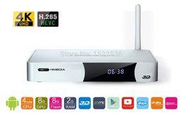 Descuento caja himedia Al por mayor-HiMedia Q5 IV, Android TV Box 4nucleuses chips / quad-core, la versión en el extranjero, reproductor Home Network TV, decodificador, libre / nave rápida