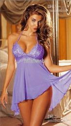 Wholesale New hot sents lingerie Colors Could Mixed Hot New Sexy babydoll Purple lingerie