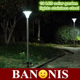 Wholesale-115cm 18LED solar stainless steel garden lights,green energy garden lights,waterproof highlight garden lights,light control lamp