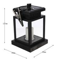 solar candle - LED Auto Sensor Outdoor Candle Solar Light Hanging Lantern Light