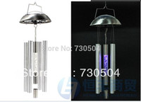 acrylic wind chimes - Solar Garden Wind Chime Light Color Changing Rotating transparent acrylic baseball