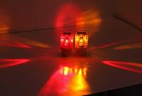 Las luces de alarma al por mayor alimentado por energía solar de la lámpara LED de iluminación al aire libre Amarillo Rojo El tráfico luz de advertencia Sun Light OLS009