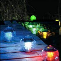 ball of led light - colorful lights ball lights Solar LED Light solar charging Solar Floating Light A pack of two
