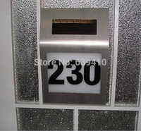 address signs - Solar led house number light solar address light solar number sign light