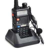 al por mayor radios vhf cb-Al por mayor-Baofeng UV-5R de dos vías jamón CB Radio portátil VHF UHF de banda dual Comunicador transmisor práctico Paseo Talkie