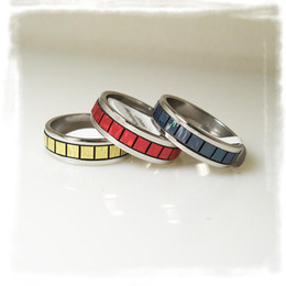 50pcs lot Unreal Colour Stainless Steel Rings Mixed