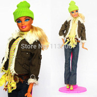 Wholesale sets New Design Handmade Clothes Sweet Suit Set Leasure Winter Wear Dress Clothing Accessories For Kurhn Barbie Doll