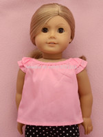Wholesale Doll clothes doll dress fit quot american Girl Doll t c blouse pieces