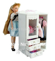 doll furniture - girl birthday gift play toy furniture closet wardrobe shoe cabinet accessorries hangers for barbie doll