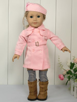doll accessories - New Inches Clothes For American Girl Doll Toy Pink Fashion Suit Fits Handmade Comfortable Cloth Baby Dolls Doll Accessories