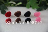 amigurumi crochet - fress ship mm Pink Red Black Brown Velvet Safety Nose for Amigurumi or crochet doll
