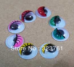 Wholesale mm mixed color painting mobile toy eyes Doll Accessories