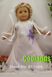 Wholesale Handmade Wedding Dress Doll Clothes For quot American Girl Dolls or Alexander Dolls Doll s Wedding