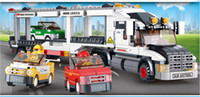 auto transport shipping - Auto Transport Truck B0339 Building Block Sets Educational DIY Jigsaw Construction Bricks toys for kid