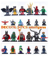 arrow construction - 240pcs decool Super Heroes Avengers marvel minifigures redskull green arrow deadpool Constructions building block DIY Toys