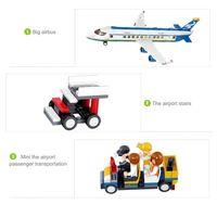 air bus plane - Simple package Sluban M38 b0366 Air bus Plane Building Blocks Enlighten minifigures aircraft diy Toys Bricks for Children
