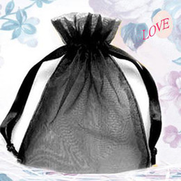 200 Pcs Black Organza Gift Bag Wedding Favor 7X9 cm (2.7x3.5inch)