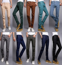 Discount Candy Color Men Jeans | 2017 Candy Color Men Jeans on ...