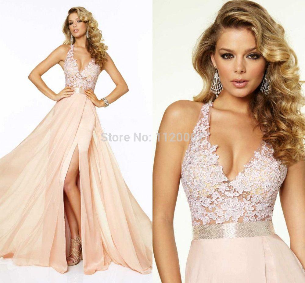 Wholesale Light Pink Halter Neck Sleeveless Sexy Backless Dress ...