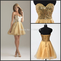 Cheap Wholesale-elie saab cheap short prom dress 2015 A line Sweetheart gold Mini Gold formal Dance Party Banquet Gowns Homecoming Dress