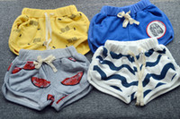 wave board - KIKIKIDS Fashion Unisex Baby Boys amp Girls Monster amp Wave Pattern Family Macthing Beach Shorts Parent amp Children Board