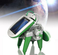 Wholesale 6 in DIY Educational Solar Kit Solar Toys Install Kit revolving plane airboat plane car puppy