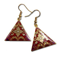 Charm cloisonne earrings - Design Earring Dangler Latest Earring High quality China Cloisonne Earring Jewellery mix Free
