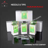 disposable tattoo tips - Disposable TKL tattoo R single needle boxes permanent makeup needle