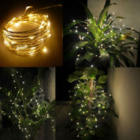 Wholesale M FT LEDs LED starry lights string copper silver wire waterproof decoration strips warm white V DC