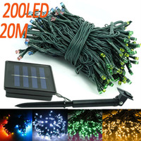 auto power solar control - M solar powered outdoor flash LED strip string lights with auto light sensor control holiday party garden street decoration