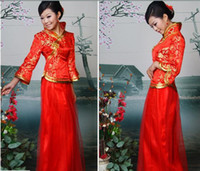 Wholesale Stunning bridal Chinese wedding dress gown party