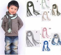Wholesale 20 New spring autumn kids scarf cute baby shawl wrap scarves pure color