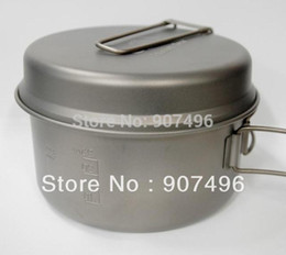 Wholesale Best Selling Outdoor Double Titanium camping pot fry pan tableware