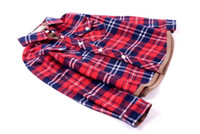 best blouse quality - Best Quality Cotton New Fashion Kids Baby Boys Girls Red Plaid Long sleeve Shirt Boy Gilr Spring Autumn Blouse Outwear